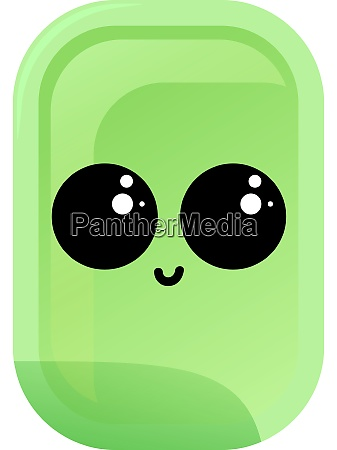 green soap with eyes illustration vector