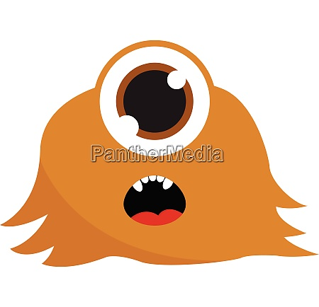 brown one eyed monster vector or