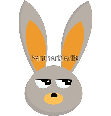 image of angry rabbit vector or