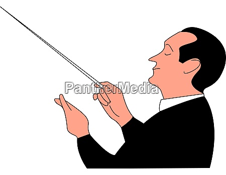 conductor illustration vector on white background