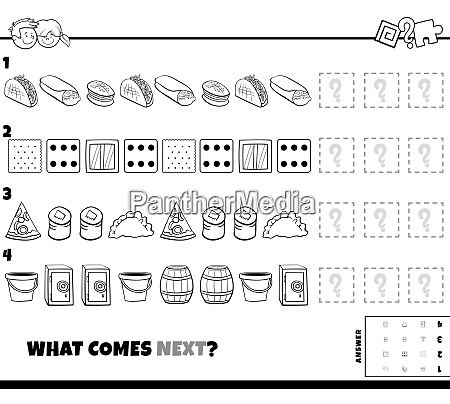 pattern game with food and objects