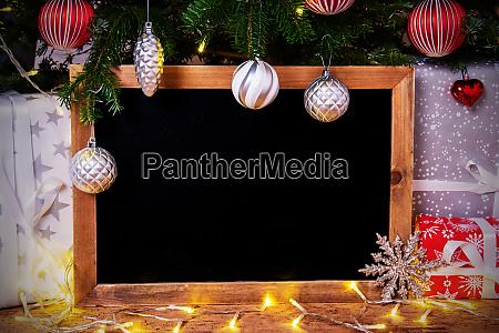 chalkboard tree gift fairy lights copy