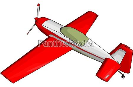 red glider illustration vector on white
