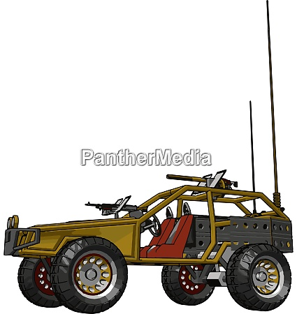 yellow remote control car illustration vector