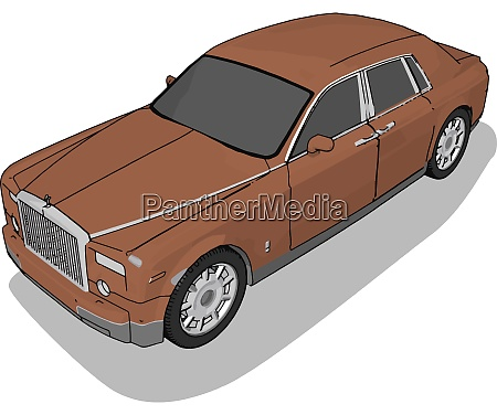 brown bentley illustration vector on white