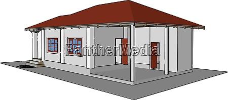 nice house illustration vector on white