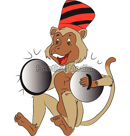 vector of monkey with cymbals