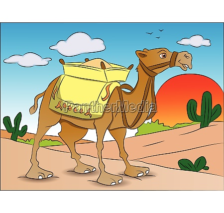 vector of a loaded camel