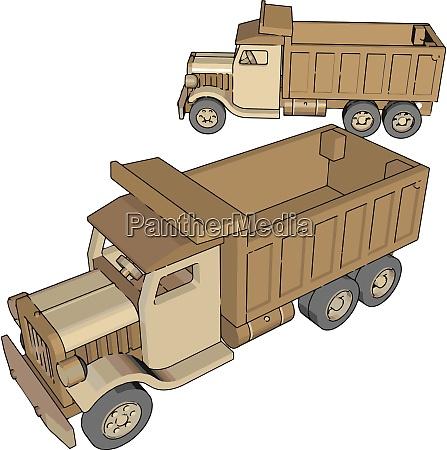 truck toy illustration vector on white