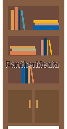 bookshelf illustration vector on white background