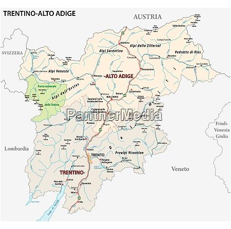 road map of the italian region