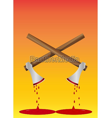 bloody axe illustration