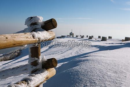 winter view at the war memorial