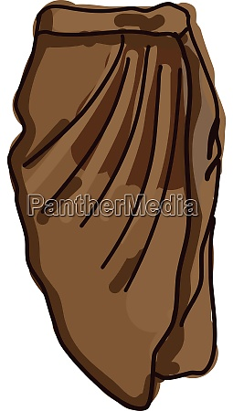 brown skirt illustration vector on white