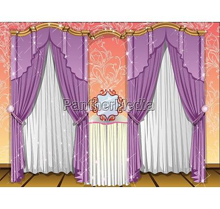 window curtains illustration