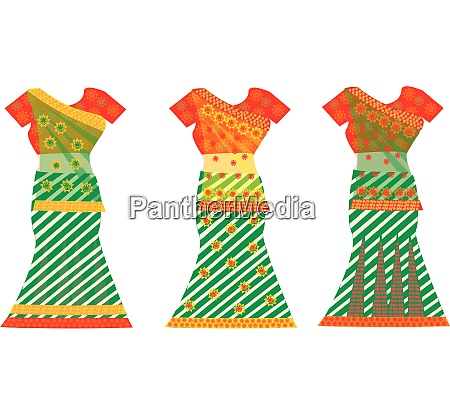 indian dresses illustration