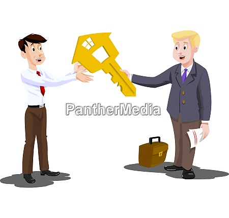man buying a house illustration