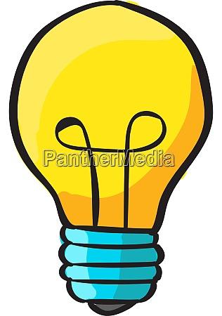lightbulb illustration vector on white background