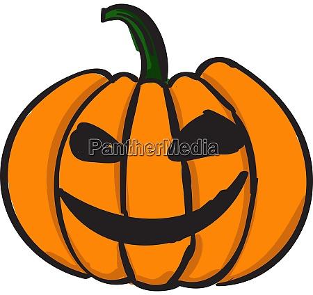 evil pumpkin illustration vector on white