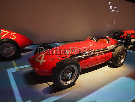 vintage racing cars at museo automobile