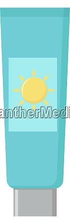 sun protection illustration vector on white
