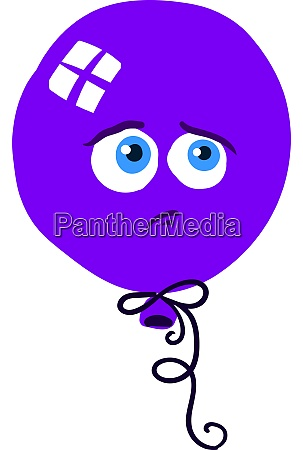 purple balloon illustration vector on white