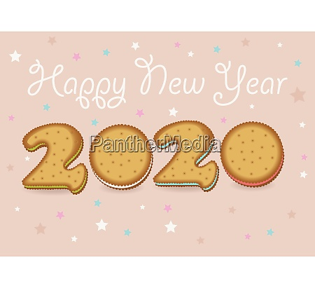 happy new year 2020 cookies