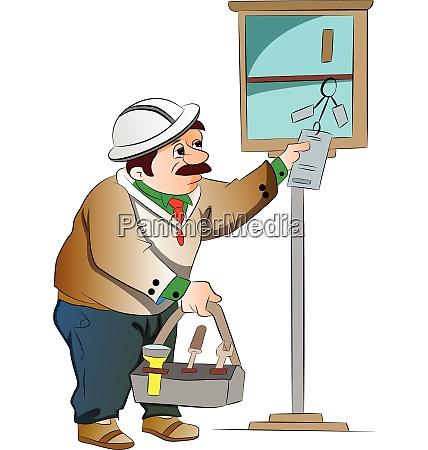 maintenance guy illustration