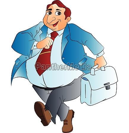 fat businessman illustration