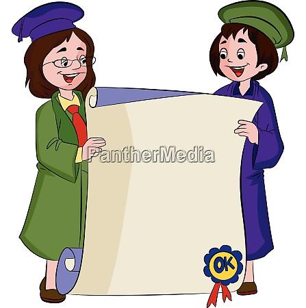 certificate of graduation illustration