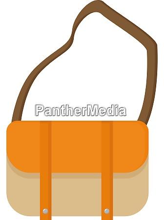 orange bag illustration vector on white