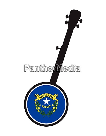banjo silhouette with nevada state seal