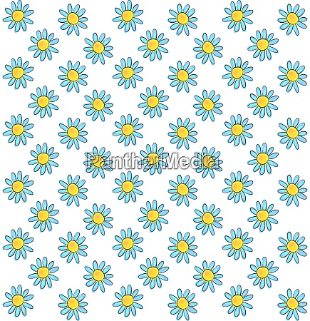 daisy wallpaper illustration vector on white