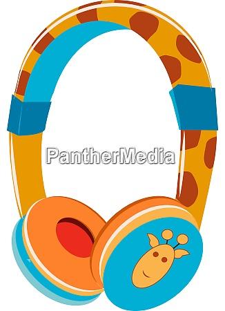 earphone illustration vector on white background