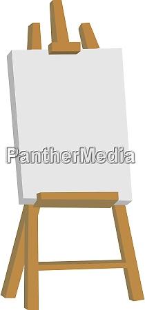 easel illustration vector on white background