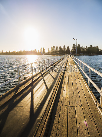 pier at sunset on victor harbor