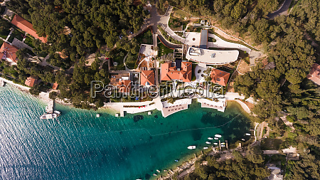 aerial view of hotel resort at