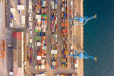 aerial view of adriatic gate container