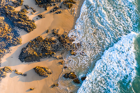 aerial view of noosa rocks beach
