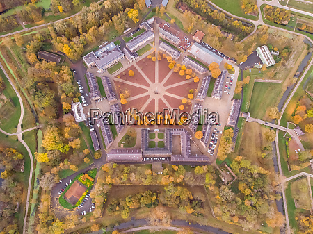 aerial view of citadelle of lille