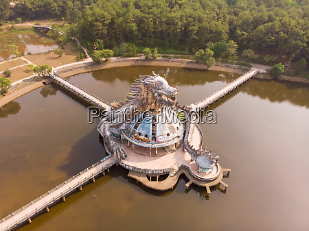 aerial view of hue abandoned water