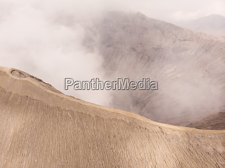 aerial view of bromo volcano indonesia