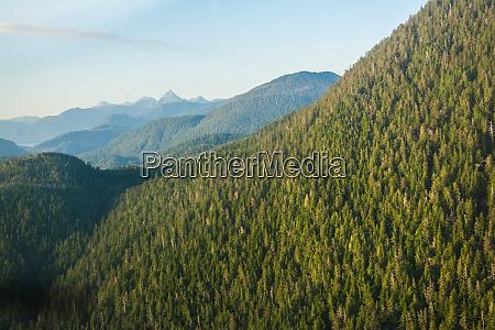 aerial view of harbor mountain baranof