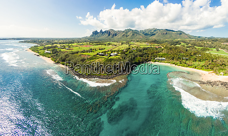 panoramic aerial view of papaa bay