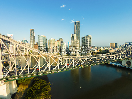 aerial view of the story bridge