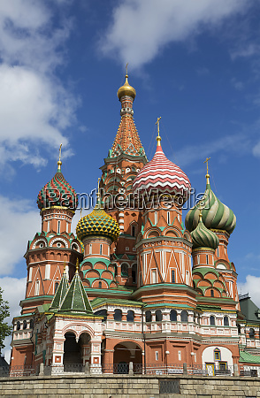 colourful russian church with traditional russian