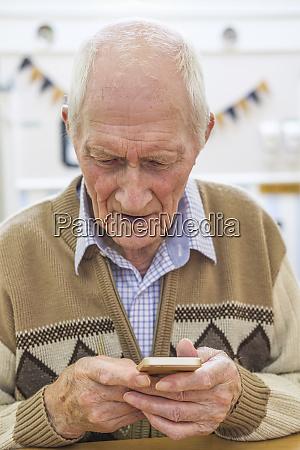 senior man at the age of