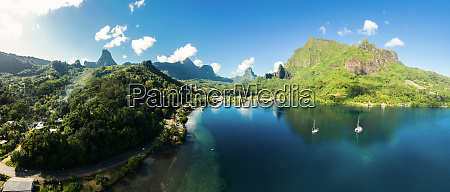 panoramic aerial view of cooks bay