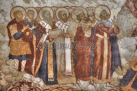 fresco saviour church on the city