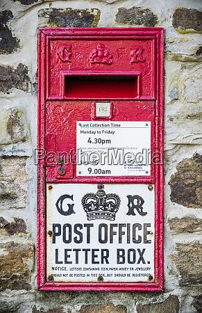 georgian post office red letter box